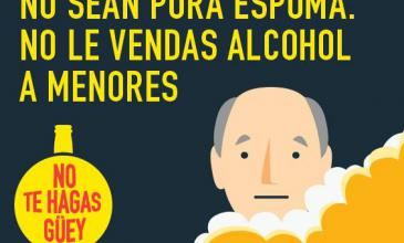 Vendedor: #NoTeHagasGüey y no vendas alcohol a menores