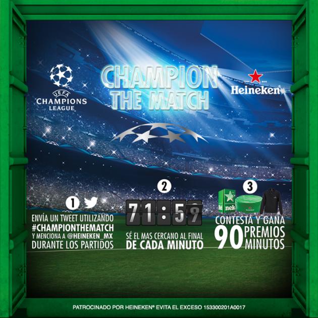 Gana premios y vive el futbol el doble con Heineken #ChampionTheMatch