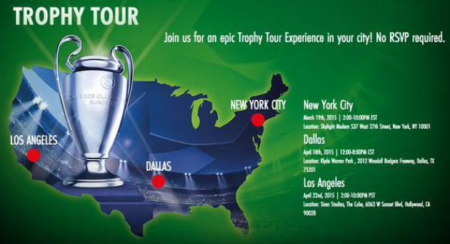 Arranca el Trophy Tour en NY con todo sobre la Champions League